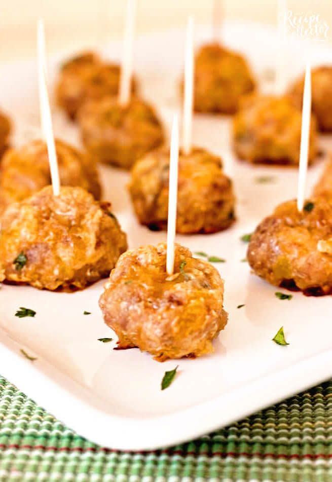 Mexican Sausage Balls - A quick and easy appetizer made with breakfast sausage you can make ahead of timeMexican Sausage Balls