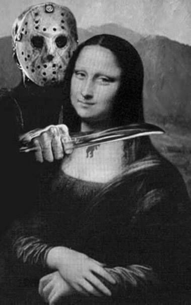 jason-horror-humor-killing-mona-lisa-photoshop-friday-13th-jason-funny-lol-art-parody-picture-photo