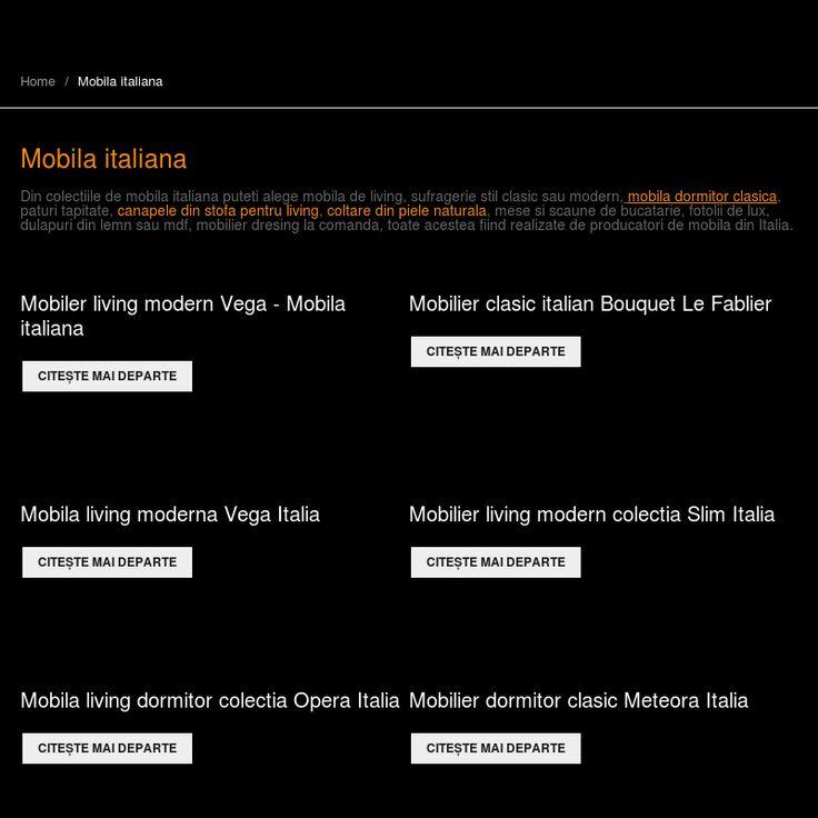 Mobila italiana - Mobila clasica dormitor - Mobila living de lux