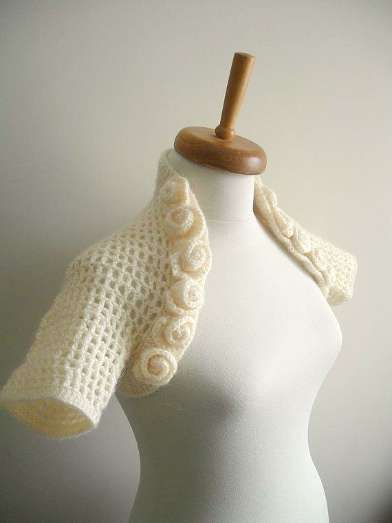 Ivory Bridal Shrug By CrochetLab With Twelve Litte by crochetlab, $62.0062 00, 6200, Twelve Litte, Bridal Shrugs, Ivory Bridal, Crochetlab