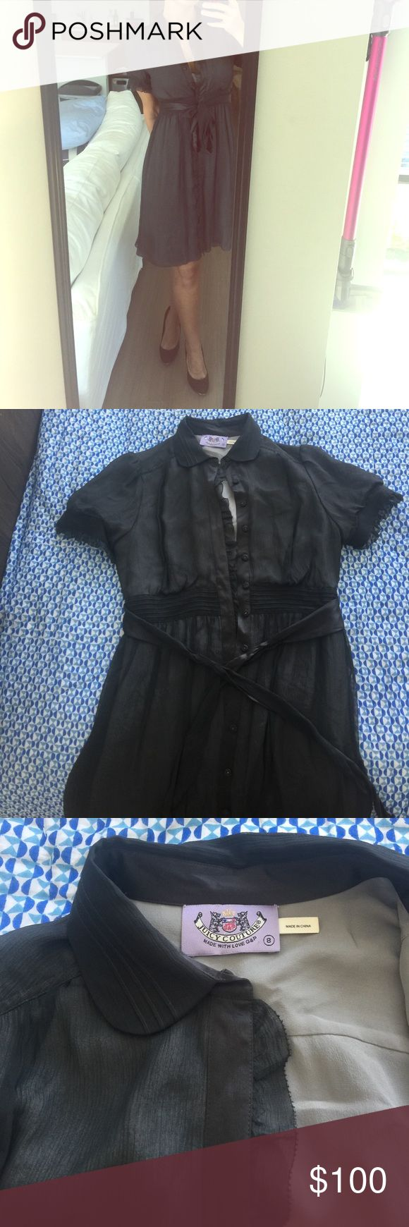 SALE! Juicy Couture 100% Silk Dress Size 8 I only wore this twice but it is sooo beautiful and appropriate for work as well as going out. Fits a 6 or 8 and FLOWS so beautifully. MOVING SALE! Juicy Couture Dresses Midi