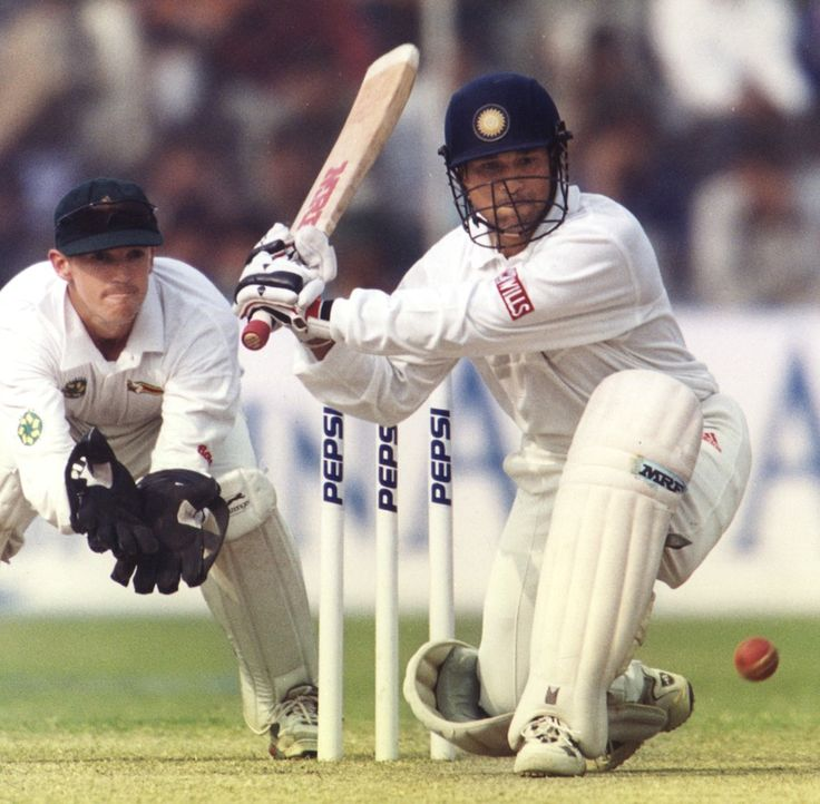 "No 23: An extract from ESPNcricinfo's report from the day: Tendulkar made 122 against Zimbabwe at the Kotla in 2000, John Wright's first Test as India coach. ""Earlier, Tendulkar was visibly miffed with himself. On a flat batting track, against a friendly Zimbabwean attack, he got himself out for just 122. The way Tendulkar was batting, that should have been just the beginning. After flaying Brian Strang for three boundaries in the first over of the day.""  www.200th.in"