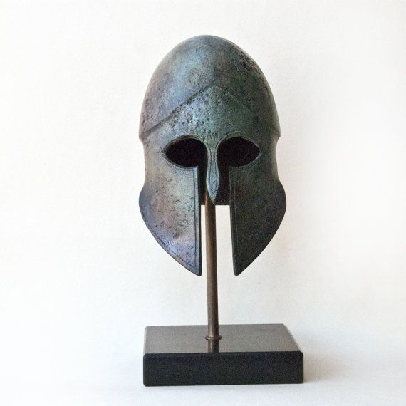 Metal Greek Helmet Ancient Greek Helmet War Army by GreekMythos