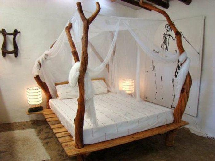 une suggestion extrêmement créative et très élegante comment faire un lit en palette, création style rustique
