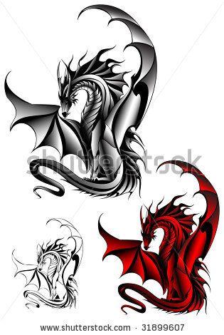 chinese dragon tattoo designs | Tattoo Dragon Design Stock Vector 31899607 : Shutterstock