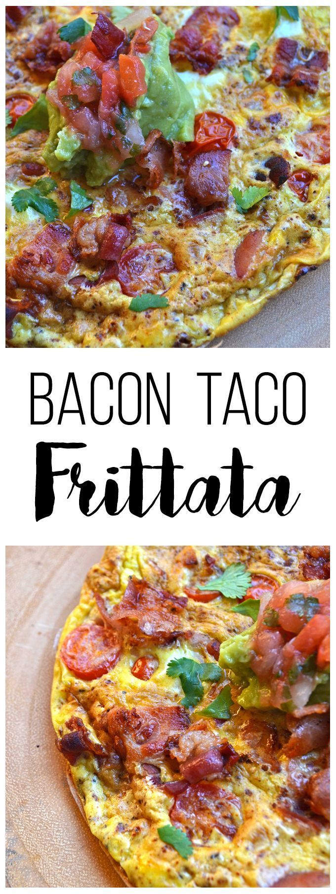 This Paleo Bacon Taco Frittata is super quick to whip together for a fiesta at breakfast! It is whole 30 approved and paleo and packed wit taco flavor! #paleo #grainfree #glutenfree
