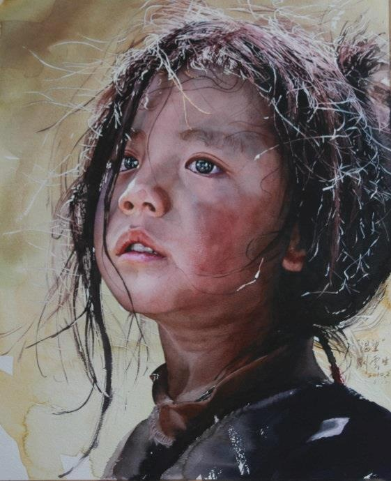 Watercolor By Liu Yunsheng (刘云生) ♥