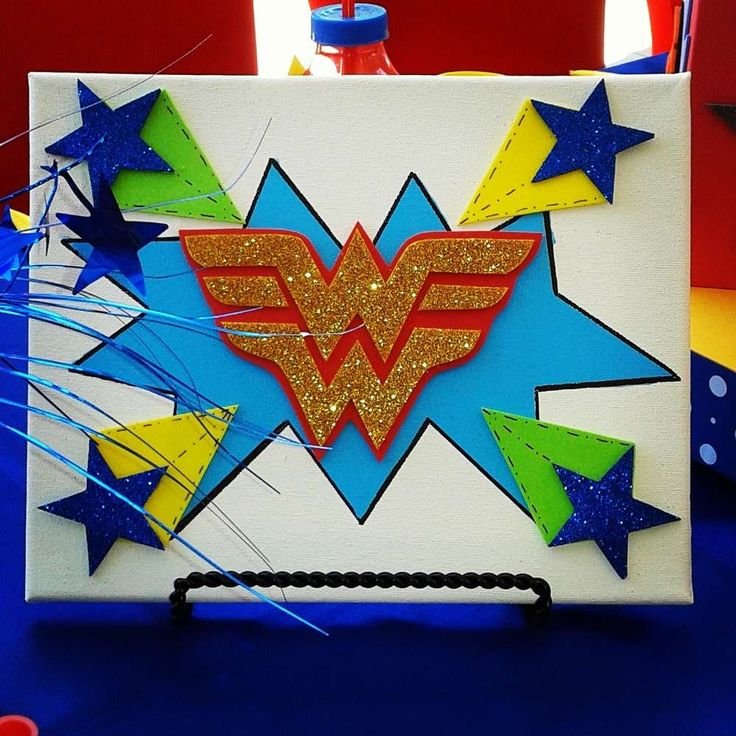 Wonder woman birthday party ideas for Kommode 60 x 80