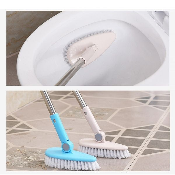 Scrub Brush Bathroom Wall Floor Scrub Brush Long Handle Bathtub Shower Tile Cleaning Tool Home Cleaning Shower Tiles Shower Tile Bathtub Shower