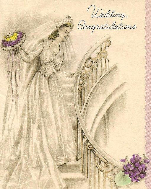 vintage wedding congratulations by in pastel, via Flickr