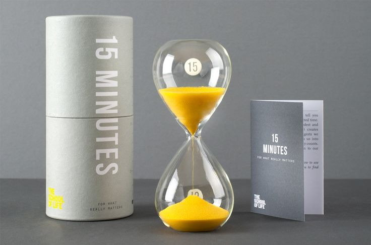 15 minute hourglass for doing what really matters, whatever that is, daily.