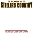 Steelers Country White Banner 8' x 2'