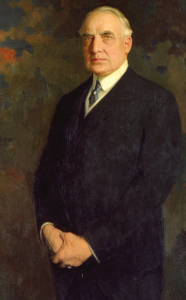 President Warren G. Harding (1921-1923) presided over a scandal-ridden administration. He died in San Francisco while on a tour of the western States and was succeeded by Calvin Coolidge.