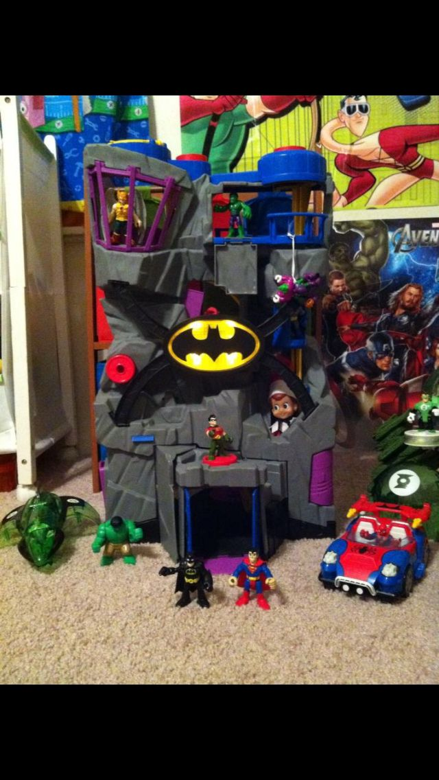 elf on the shelf to the batcave more shelves christmas ideas elf on ...