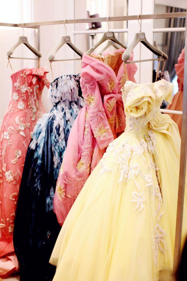 The Dior Haute Couture salon, on the floor of the store avenue Montaigne.  #dior