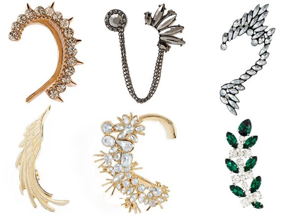 Ear cuffs - Styles made popular by Jennifer Lawrence & others