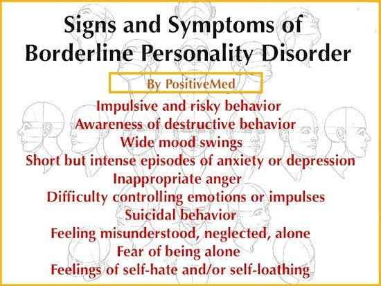 10 Signs of Borderline Personality DisorderPositiveMed | Stay Healthy. Live Happy