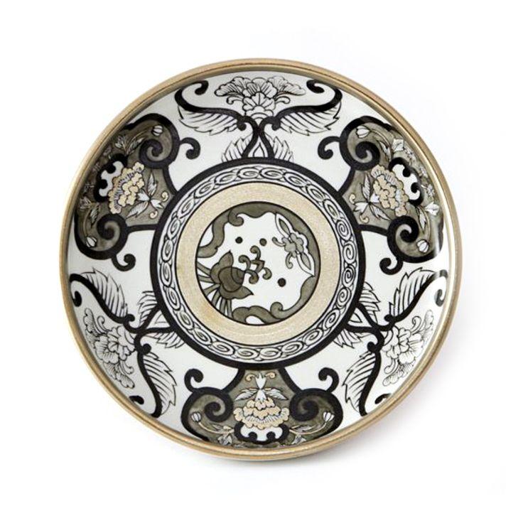JAPAN SNOW Arita Platinum Porcelain - Meimei Plate - Takaski.com