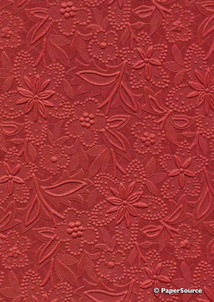 Crafty Paper - Embossed Pearlescent Bloom - Red, $2.35 (http://www.craftypaper.com.au/embossed-pearlescent-bloom-red/)