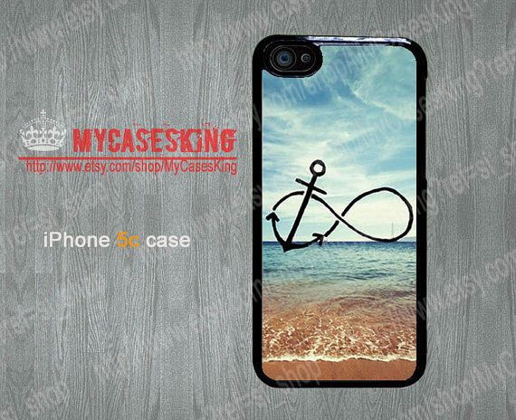 Infinity Anchor iPhone5c case Infinity iPhone 5c case Refuse to Sink Blue Ocean Beach iPhone 5c Hard/Rubber case-Choose Your Favourite Color by MyCasesKing, $6.99