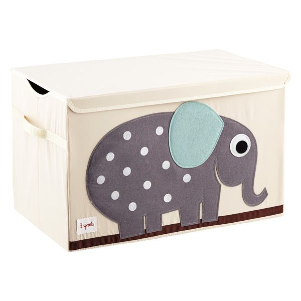 3 Sprouts Elephant Toy Storage Box With Handles