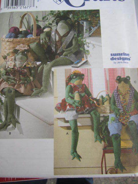 SeeSallySew.com - Frog Doll Clothes Wardrobe Dolls Sunrise Designs Simplicity 8170 Craft Pattern , $10.00 (http://stores.seesallysew.com/frog-doll-clothes-wardrobe-dolls-sunrise-designs-simplicity-8170-craft-pattern/)