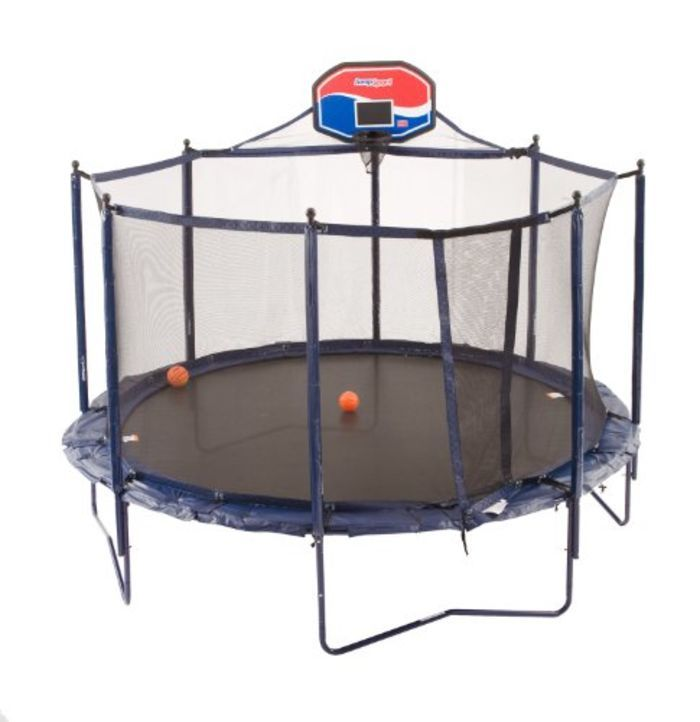 Cheap Trampoline With Basketball Hoop
