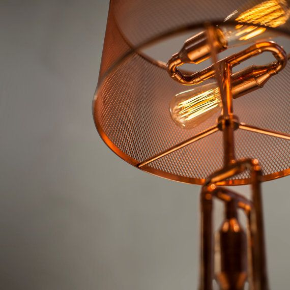Copper pipe table lamp mt50007 in table lamps from lights for Pipes and lights
