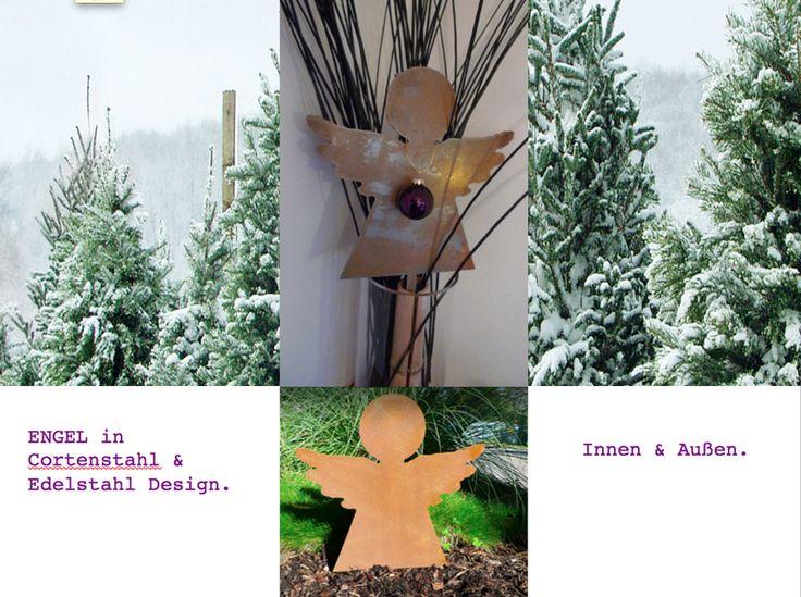 Engel - Edelrost-Effekt - Stahl von PAULSBECK Buchstaben, Dekoration & Geschenke auf DaWanda.com