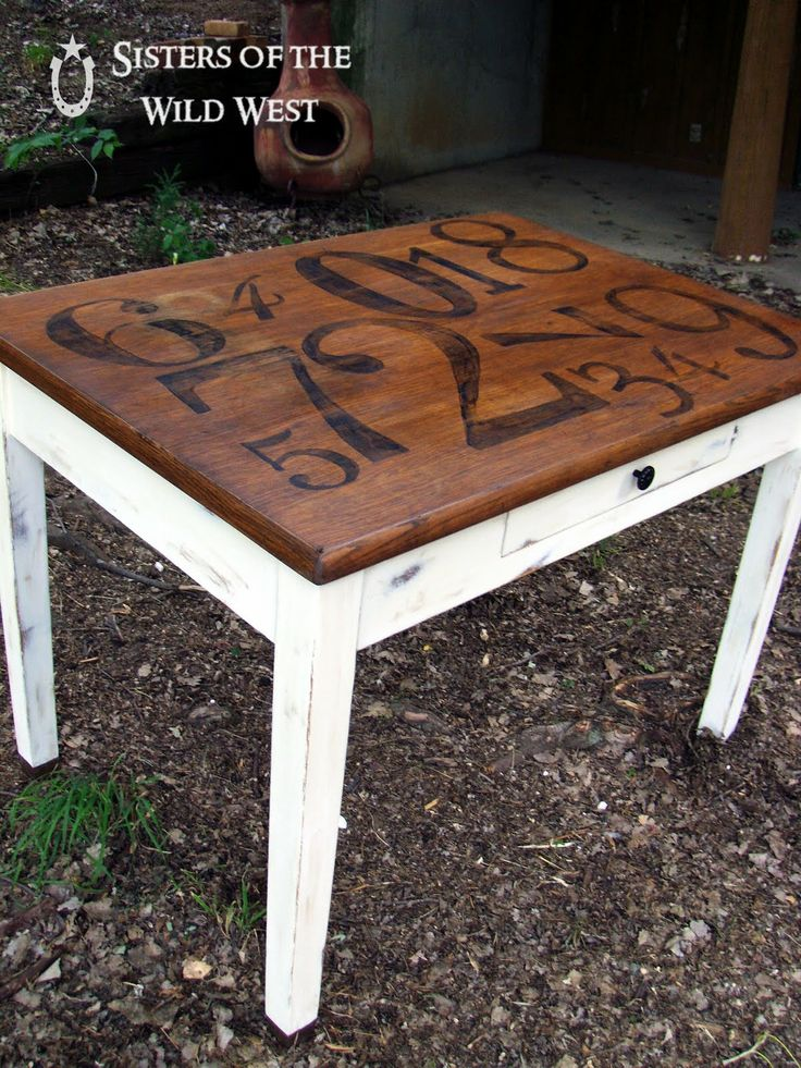 a pottery barn inspired table....love it, need to find a table to redo...