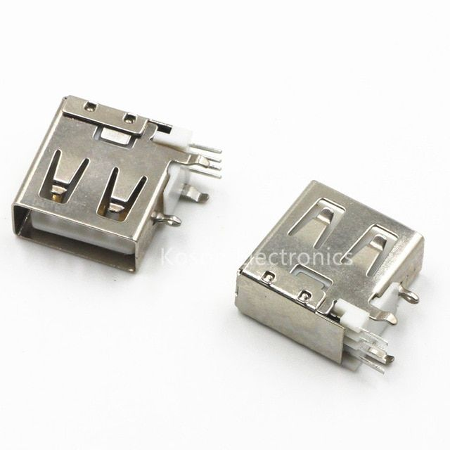 10pcs Usb Type A Female Pcb Mount Socket Connector High Quality Vertical Usb A Female Socket Jack Connector 90 Degree Review Usb Type A Usb 90 Degrees