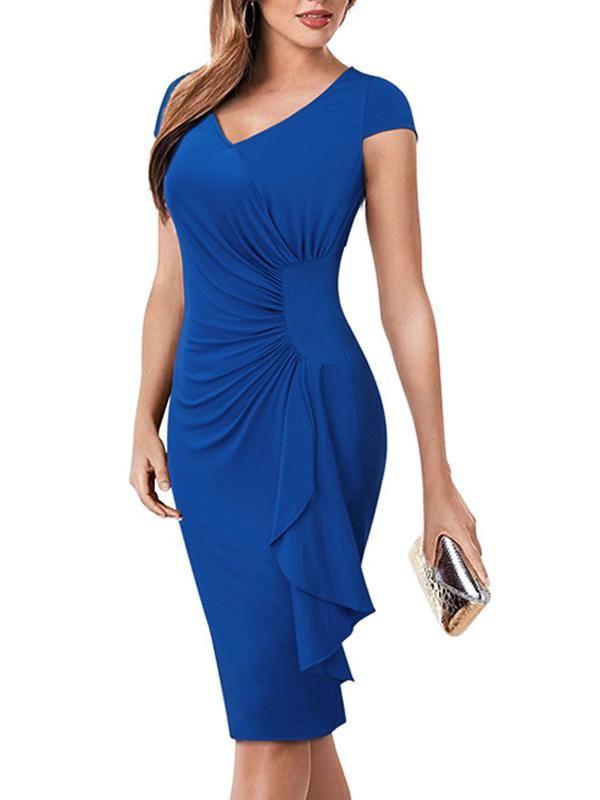 Mit schlitz blaues langes kleid Modernes langes