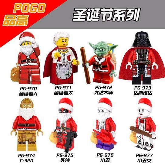 Super Hero Рождественский Бабушка Йода Дарт Вейдер Дэдпул Джокер Харли Квинн Minifiguers C3PO Санта-Клаус Рождественский Подарок Игрушки PG8022 #women, #men, #hats, #watches, #belts