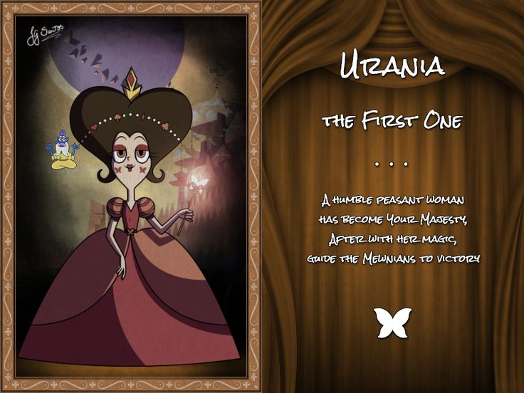 Urania, The First One by jgss0109 on DeviantArt||THE FAMILY IS CALLED BUTTERFLY BC SHE HAS BUTTERFLIES IN HER CHEEKS IT ALL MAKES SENSE NOW