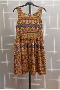 Brown Dress allover print