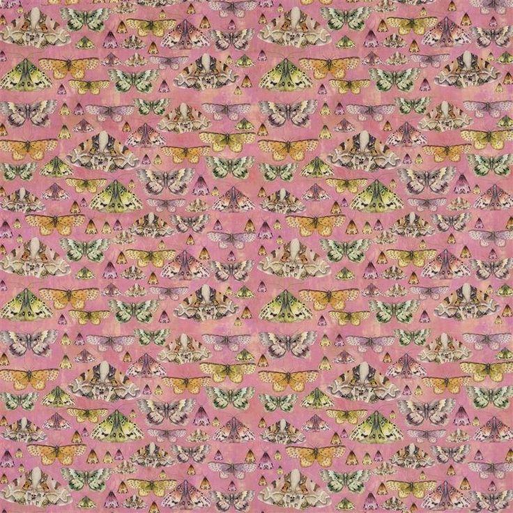Marianne Fuchsia Fabric FDG2556/01 Designers guild