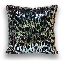 @Overstock.com - This dazzling decorative throw pillow showcases an allover sequined design and faux silk backing.  This pillow showcases a cheetah pattern.  http://www.overstock.com/Home-Garden/Sequin-Cheetah-16x16-Decorative-Pillow/6206350/product.html?CID=214117 $23.99