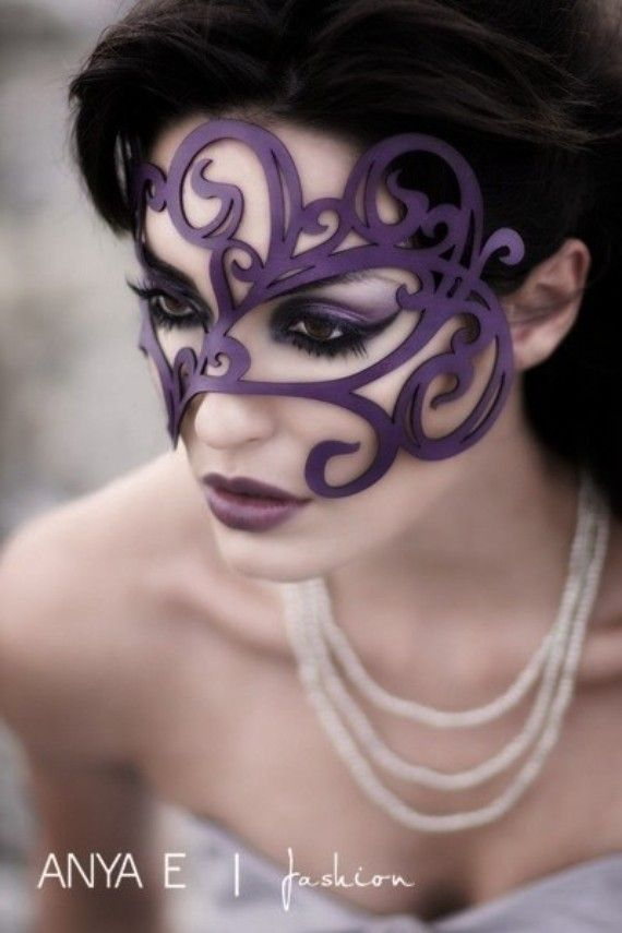 """This is my kind of Halloween """"costume""""Ideas, Eye Makeup, Masque Ball, Purple, Halloween Costumes, Masquerades Parties, Masks Masquerades, Leather Masks, Mardi Gras"""
