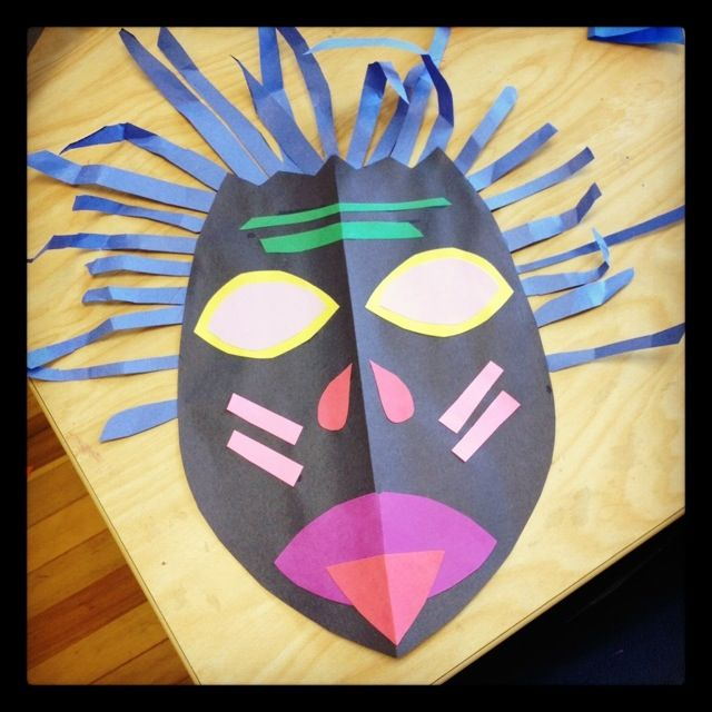 Thanks to Tishalou for her awesome post on art from around the world. It inspired my lessons this week! We started some cut paper African masks in 3rd grade and they are loving it! The first pictur…