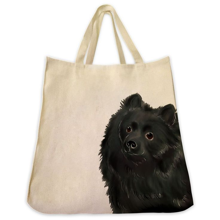 Description: The Black Pomeranian color 10 oz. cotton twill tote bag is the perfect gift for the Black Pomeranianan or dog lover in your life. These tote bags are handmade from the highest quality 10