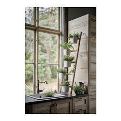 САТСУМАС Подставка с 5 кашпо, бамбук, белый - IKEA