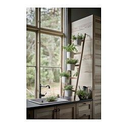 IKEA - SATSUMAS, Plant stand with 5 plant pots, A decorative ladder plant stand allows you to grow several plants together vertically – perfect if you like plants but live in a small space.A plant stand makes it possible to decorate with plants everywhere in the home.