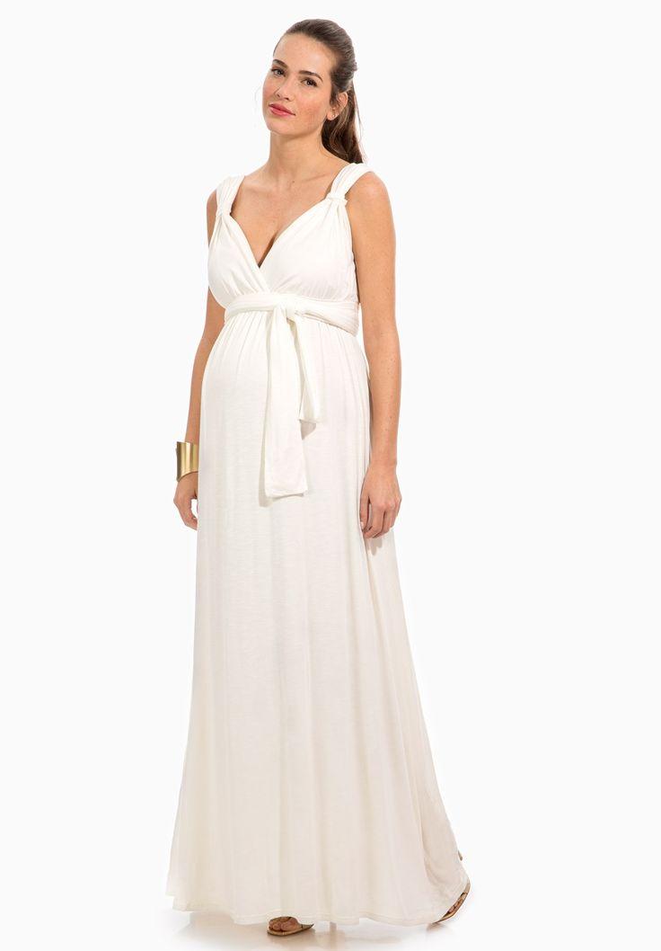 Robe longue blanche grossesse