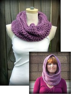 Crochet Convertible Cowl. Cute, quick, easy and you can make one to match each jacket ;)