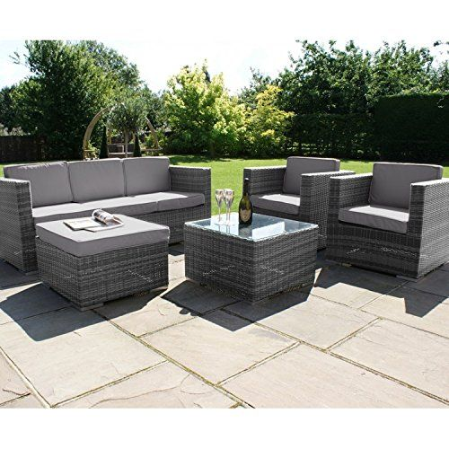 San Diego Dallas Baby Rattan Garden Furniture Grey Georgia Sofa Set