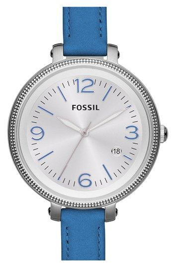 Fossil 'Heather' Color Accent Watch