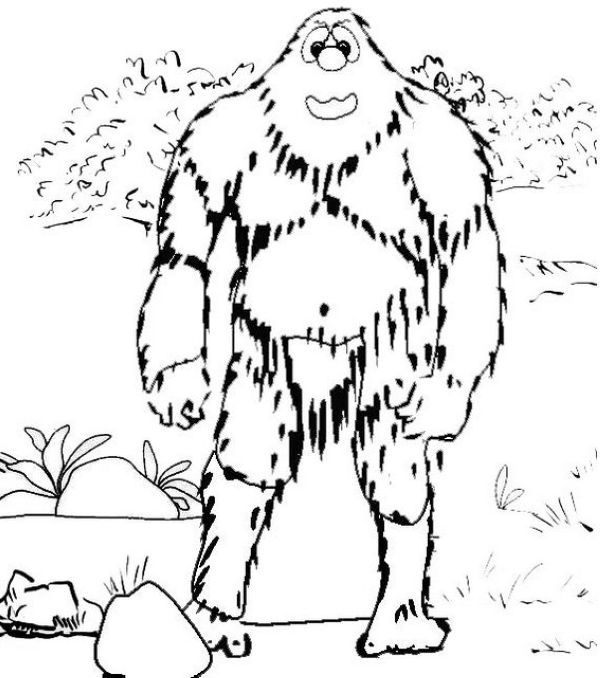 Abominable Snowman Coloring Pages Snowman Coloring Pages