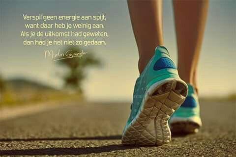 Verspil geen energie aan spijt ...