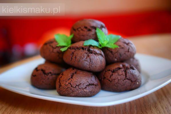 Ciasteczka czekoladowe z nutą mięty