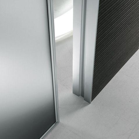 aluminium frame grey etched glass